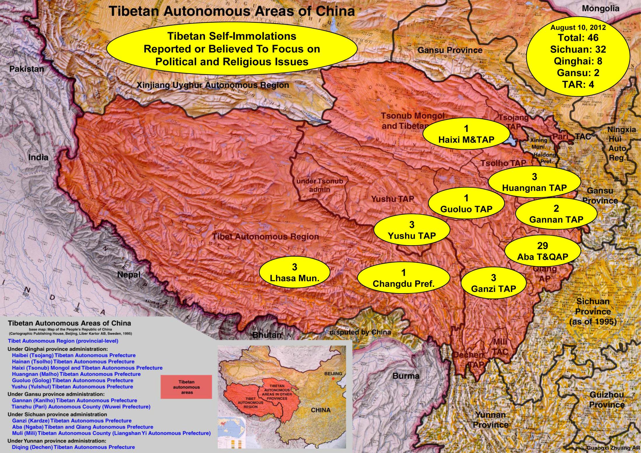 Tibetan Self-Immolation (February 27, 2009-August 10, 2012)