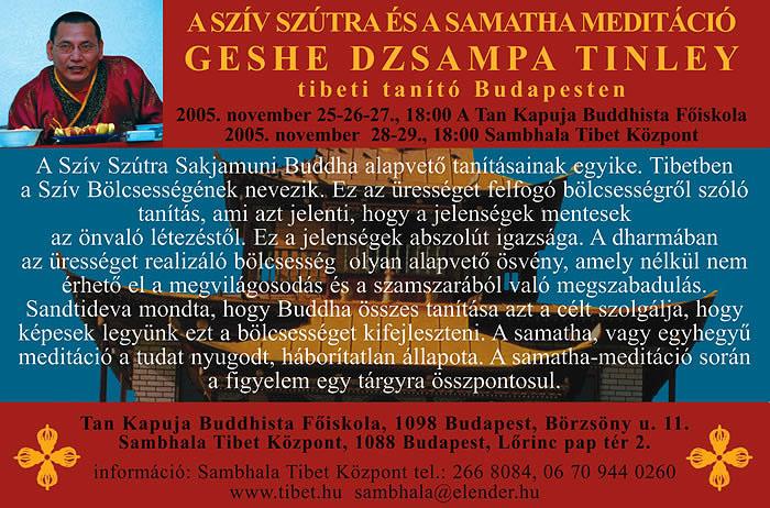 Geshe Dzsampa Tinley plakát